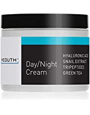 YEOUTH Day Night Moisturizer for Face with Snail Extract, Hyaluronic Acid, Green Tea, and Peptides, Anti Aging Day Cream or Night Cream Moisturizer for Dry Skin, 4 oz (4oz)