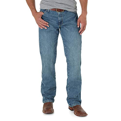 Wrangler Men's Tall Retro Slim Fit Boot Cut Jean, Worn In, 31x38]()