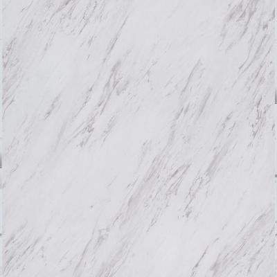 TrafficMASTER Model # SS1212 12 in. x 24 in. Peel and Stick Carrara Marble Vinyl Tile (20 sq. ft. / case)