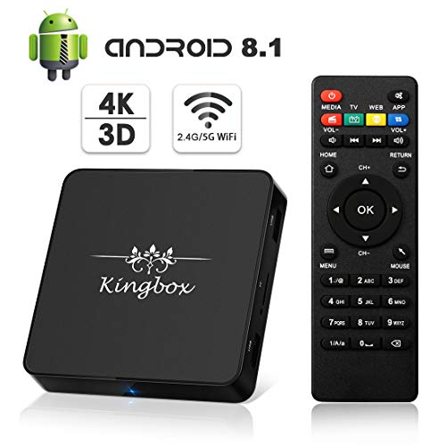 Kingbox Android TV Box 8.1, Model X Android Box with, used for sale  Delivered anywhere in USA