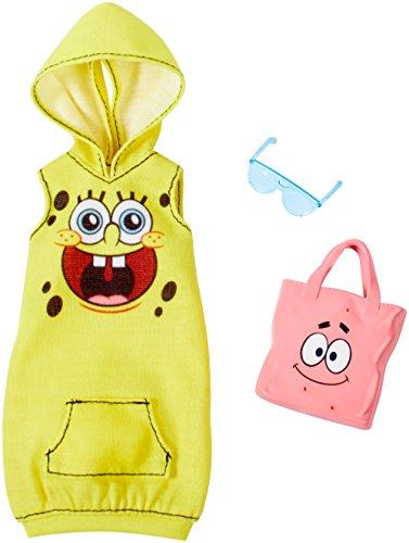 Barbie SpongeBob Yellow Hoodie Dress Fashion Pack -