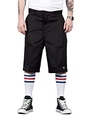 13'' Flat Front Work Short - Black Dickies42283 Classic Mens Work Shorts