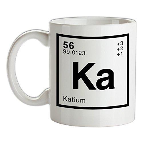 KAT - Periodic Element White Ceramic Coffee Mug 11oz
