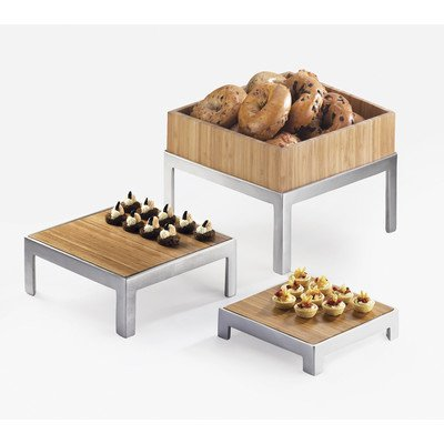 Cal-Mil 1481-10-60 Square Change-Up Riser, 10'' W x 10'' D x .75'' H, Bamboo by Cal Mil
