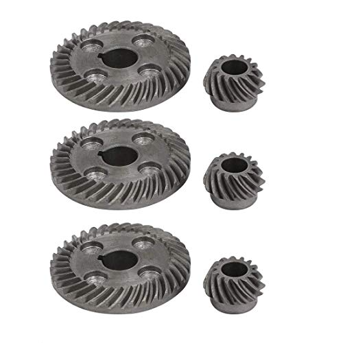 ZCHXD 90 Degree Shaft Angle Replacement Part Spiral Bevel Helical Gear Set 3pcs ()