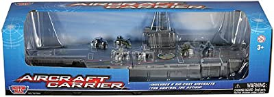 "MotorMax 18"" Aircraft Carrier Playset with Realistic Sounds"