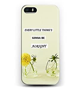 Case for iphone 6 plus Christian Quotes Hard Plastic Snap On Cover -- Every Little Thing'S Gonna Be Alright WANGJING JINDA