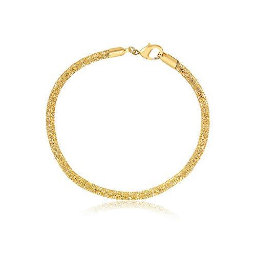 Barzel 18K Gold Plated Mesh Chain Ankle Bracelet Fine Metal Anklet Bracelet