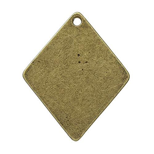 Metal Alloy Charm Pendants | Antique Bronze Pendants 29Mm(1 1/8