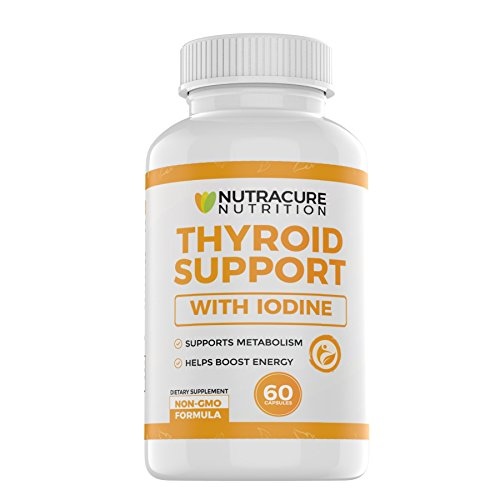 Extra Strength Thyroid Support with Iodine Supplement - Energy, Metabolism & Focus Formula - Allergen Free