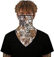Earhook Bandanas Face Mask Neck Gaiter Headwear Scarf Dust Wind Sun Protection Ear Hangers Seamless Tube Mask