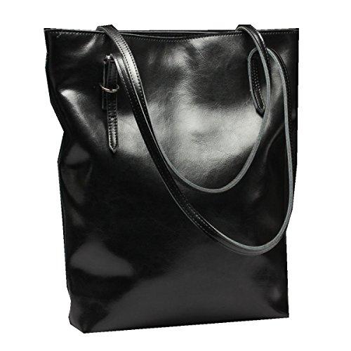Yy.f Nueva Bolsa De Cuero Bolsos De Cuero De La Manera Cera De Aceite Bolso De Hombro Paquete Diagonal Una Variedad De Colores Black