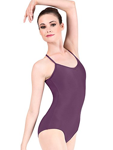 Adult Adjustable Strap Camisole Dance Leotard D5100BLKM Black Medium