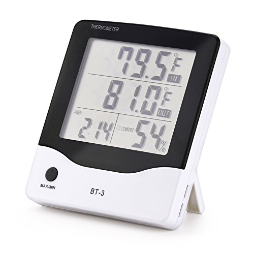 CDJZZL Digital thermometer indoor hygrometer Fahrenheit Celsius switching temperature humidity monitor for home kitchen restaurants bars by CDJZZL