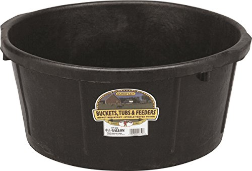 LITTLE GIANT MILLER CO All Purpose Tub, 6.5 gallon, Black