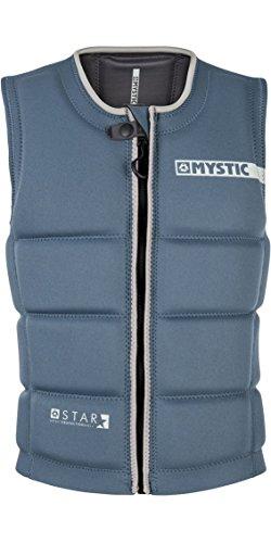 Mystic Watersports - Surf Kitesurf & Windsurfing Star Front Zip Wake Impact Vest Top Navy - Unisex - Clash Foam - Zipper Lock from Mystic