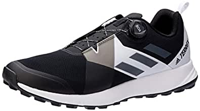 adidas Men's TERREX Two Boa Trail Running Shoes, Core Black/Grey/Footwear White, 7.5 US