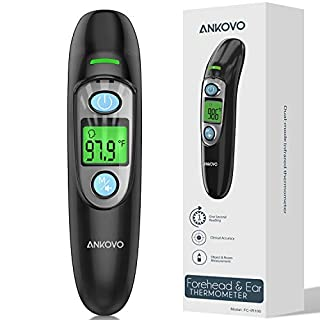 Thermometer for Fever, Medical Forehead and Ear Thermometer for Adults, Babies, Children, Kids , Large LCD Screen, Memory Recall and Fever Alarm