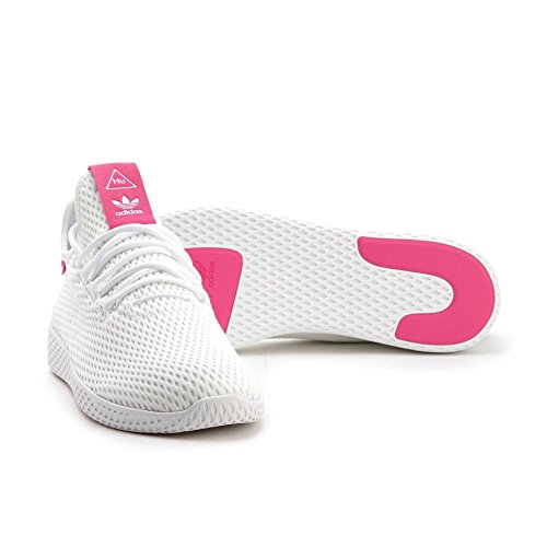 adidas Originals PW Tennis HU Mens Trainers Sneakers (UK 6.5 US 7 EU 40, White Pink BY8714) (Shop Adidas Uk)