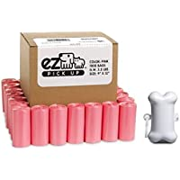 EZ 1000 Pet Waste Disposal Poop Bags with Dispenser Pick Up Bags Pink