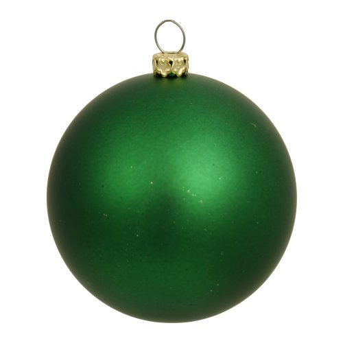 Ball Matte - Vickerman Matte Finish Seamless Shatterproof Christmas Ball Ornament, UV Resistant with Drilled Cap, 6 per Bag, 4