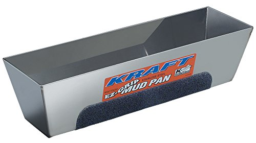- Kraft Tool DW724 EZ-Grip Mud Pan, 14-Inch x 3-Inch