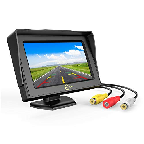 Car Rear View Backup Monitor,Esky 4.3 Inch TFT LCD Color Display Car Rear View 180 Degree Adjustable Monitor Screen for Rearview Vehicle Backup Parking Cameras[The Wirecutter's Pick]