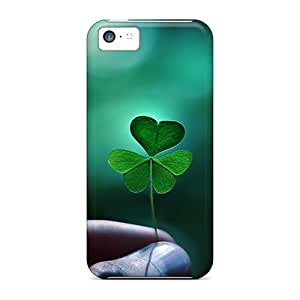 Anti-scratch And Shatterproof Green Clover Closeup Phone Case For Iphone 5c/ High Quality Tpu Case