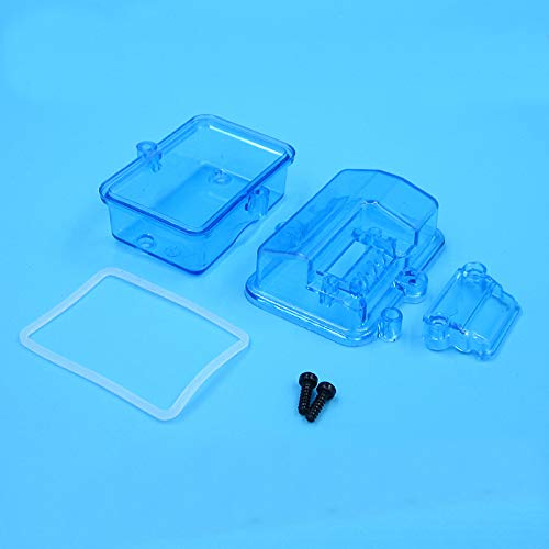 1PC Sealed Waterproof Case Transparent Receiver Box Plastic Receiving Module Box Equipment Cases for RC Cars Boats Accessories
