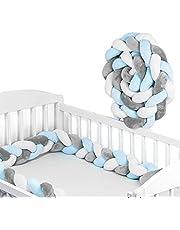 Gevlochten bedrand voor baby's, bedrol voor een babybed