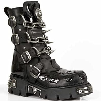 New Rock Boots Mens Style 727 S1 Black