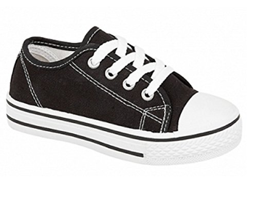 de Youths Lona para Zapatos T cordones Koo mujer de Black qwnBIznYf