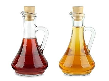 Pasabahce 80108 - Botella de aceite y vinagre con corcho plástico Olivia Toscana, juego de
