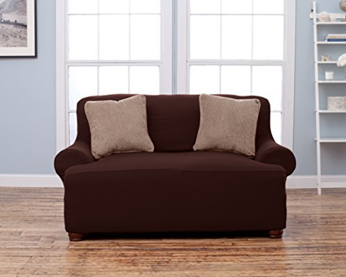 - Home Fashion Designs Form Fit, Slip Resistant, Stylish Furniture Shield/Protector Featuring Lightweight Corduroy Fabric. Lucia Collection Basic Strapless Slipcover Brand. (Loveseat, Chocolate)