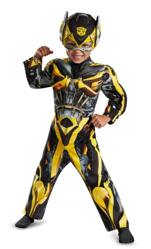 Disguise Hasbro Transformers Age of Extinction Movie Bumblebee Toddler Muscle Costume, Small/2T (Toddler Bumblebee Transformer Costume)