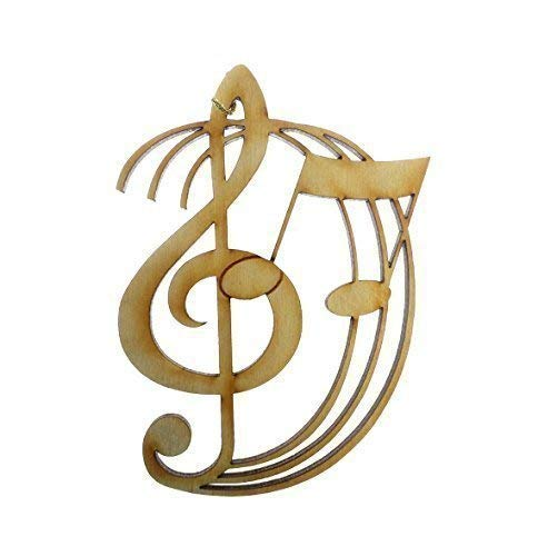 (Treble Clef Ornament - Musician Gift - Music Ornament - G Clef Ornament - Music Teacher Gifts)