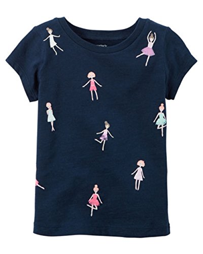 Carter's Girl's Navy S/S Doll Graphic Tee (24 Months)