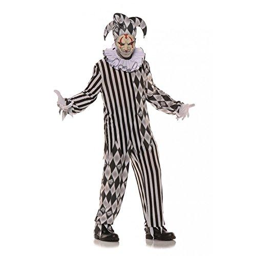 Evil Harlequin Jester Adult (Adult Diamond Jester Costumes)