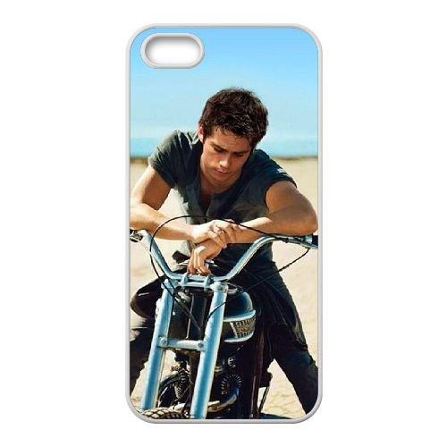 Dylan O'Brien 004 coque iPhone 5 5S Housse Blanc téléphone portable couverture de cas coque EOKXLLNCD18089