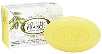 South Of France Natural Body Care Lemon Verbena Oval Soap 6 OZ Pack of 6