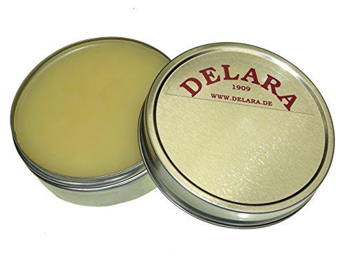 DELARA Hochwertiges Lederfett; nährt, imprägniert und pflegt Schuhe, Taschen und Möbel aus Leder, 75 ml Farblos