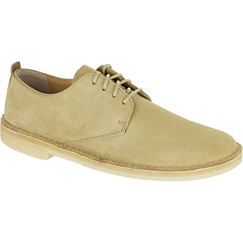 clarks-mens-desert-london-oxford-maple-suede-size-10