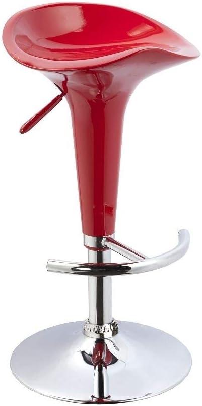 Duhome 2X Sgabelli da Bar in plastica Bianco Regolabile in Altezza Girevole Selezione Colore 103