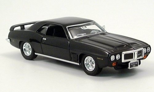 pontiac firebird trans am black 1969 model car ready. Black Bedroom Furniture Sets. Home Design Ideas