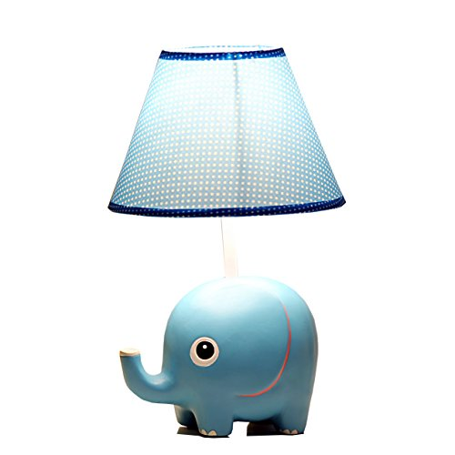 Eastyle Cartoon Elephant Table Lamp Night Light for Kids Child Students Girls Boys Baby's Room,blue