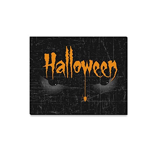 Jnseff Wall Art Painting Scary Halloween Eyes Creative Text Halloween Prints On Canvas The Picture Landscape Pictures Oil for Home Modern Decoration Print Decor for Living Room -
