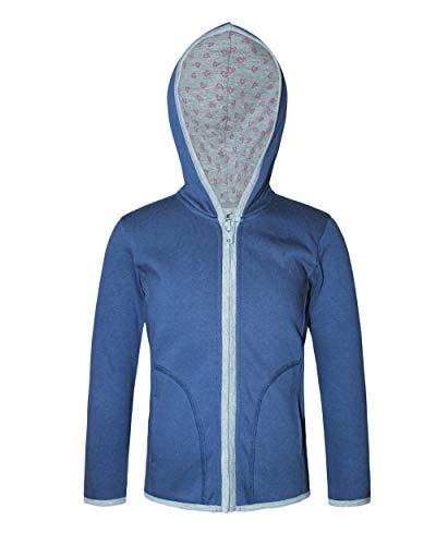 Kothari Printed Full Sleeve Hooded Sweatshirt for Girls