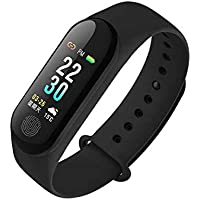 Bzoos M3 Smart Fitness Band with Heart Rate Sensor/Pedometer/Sleep Monitoring Functions Compatible with Apple iPhone 5C (Assorted Color)