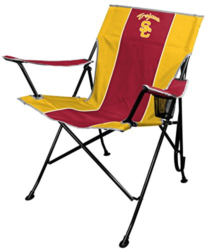 - NCAA Portable Folding Tailgate Chair with Cup Holder and Carrying Case