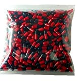 1000 Empty Gelatin Capsule Size 00 – Red & Black (US Quality) For Sale